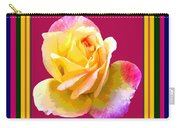 Pink And Yellow Rose Carry-all Pouch