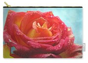 Pink And Yellow Rose With Dew II  Carry-all Pouch