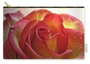 Pink And Yellow Rose With Water Drops Carry-all Pouch