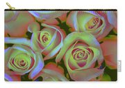 Pink And Yellow Roses Pop Art Carry-all Pouch