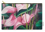 Pink Anthuriums Carry-all Pouch