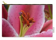 Pink Asiatic Abstract Carry-all Pouch
