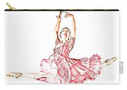 Pink Ballerina Carry-all Pouch