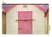 Pink Beach Hut Carry-all Pouch
