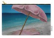 Pink Beach Umbrella Carry-all Pouch