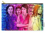Pink Beatles From Rainbow Series Carry-all Pouch
