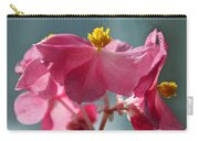 Pink Begonia Flower Portrait Carry-all Pouch