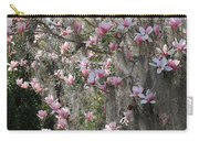Pink Blossoms And Gray Moss Carry-all Pouch