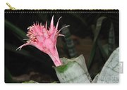 Pink Bromeliad Bloom Carry-all Pouch by Kaye Menner