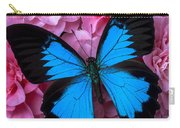 Pink Camilla And Blue Butterfly Carry-all Pouch