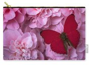 Pink Camilla's And Red Butterfly Carry-all Pouch