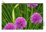 Pink Chives In Mackinac Island-michigan Carry-all Pouch