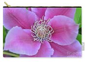 Pink Clematis Beauty Carry-all Pouch