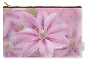 Pink Clematis Profusion Carry-all Pouch