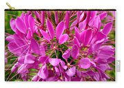 Pink Cleome Flower Carry-all Pouch