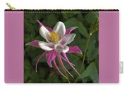 Pink Columbine Flower Carry-all Pouch