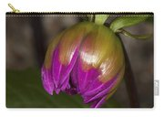 Pink Dahlia Bud Carry-all Pouch