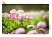 Bellis Perennis Pomponette Called Daisy Blooming  Carry-all Pouch