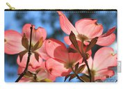 Transparent Glory Pink Dogwood Easter Flower Art Carry-all Pouch