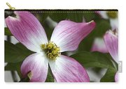 Pink Dogwood Blossom Up Close Carry-all Pouch