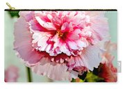 Pink Double Hollyhock Carry-all Pouch by Robert Bales