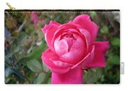 Pink Double Rose Carry-all Pouch