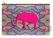 Pink Elephant Carry-all Pouch by Patrick J Murphy
