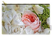 Pink English Rose Among White Roses Art Prints Carry-all Pouch