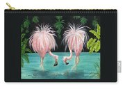 Pink Flamingo Booty Tropical Birds Art Cathy Peek Carry-all Pouch