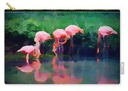 Pink Flamingos Carry-all Pouch