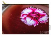 Pink Flower In Red Wine Cocktail Carry-all Pouch
