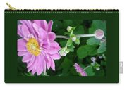 Pink Flower Shiver Carry-all Pouch