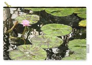 One Pink Water Lily With Lily Pads Carry-all Pouch