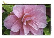 Pink Flower With Rain Drops Carry-all Pouch