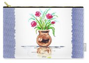Pink Flowers Botanical Impressionism Carry-all Pouch