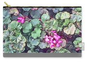 Pink Flowers Painting Carry-all Pouch