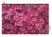 Pink Full Frame Azalea Blossoms Carry-all Pouch