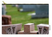 Pink Granite Tombstone Carry-all Pouch