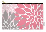 Pink Gray Peony Flowers Carry-all Pouch