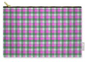 Pink Green And White Plaid Pattern Cloth Background Carry-all Pouch