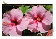 Pink Hibiscus Blooms Carry-all Pouch
