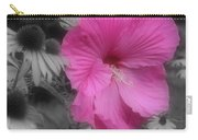 Pink Hibiscus In Partial Color Carry-all Pouch