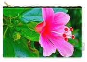 Pink Hibiscus Near Celadon Factory In Chiang Mai-thailand Carry-all Pouch