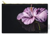 Pink Hibiscus On Black Water Carry-all Pouch