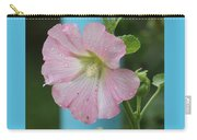 Pink Hollyhock And Rain Carry-all Pouch