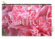 Pink Hollyhock Mother's Day Card Carry-all Pouch