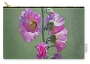 Pink Hollyhocks Carry-all Pouch