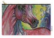 Pink Horse With Blue Mane Carry-all Pouch