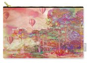 Pink Hot Air Balloons Abstract Nature Pastels - Dreamy Pastel Balloons Carry-all Pouch