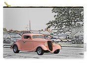 Pink Hot Rod Cruising Woodward Avenue Dream Cruise Selective Coloring Carry-all Pouch